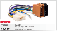 CARAV 15-102 -ISO-разъем для ГУ CLARION AX/DB/DXZ/MRX/PX series 16pin(25x11mm)->ISO(f)