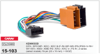 CARAV 15-103 -ISO-разъем для ГУ Kenwood 16pin(22x10mm)->ISO(f)